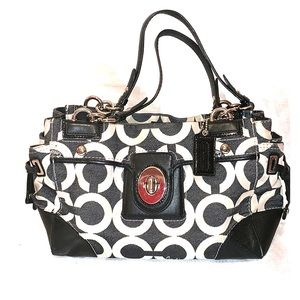 Coach Peyton Op Art Shoulder Bag